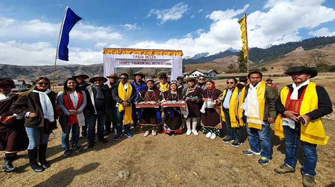 Arunachal:Ministers, Speaker visit Dechenthang Model Village near Mechuka