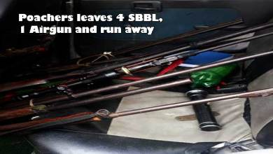 Photo of Arunachal: Poachers leaves 4 SBBL, 1 Airgun and run away in inside the D. Ering Wildlife Sanctuary