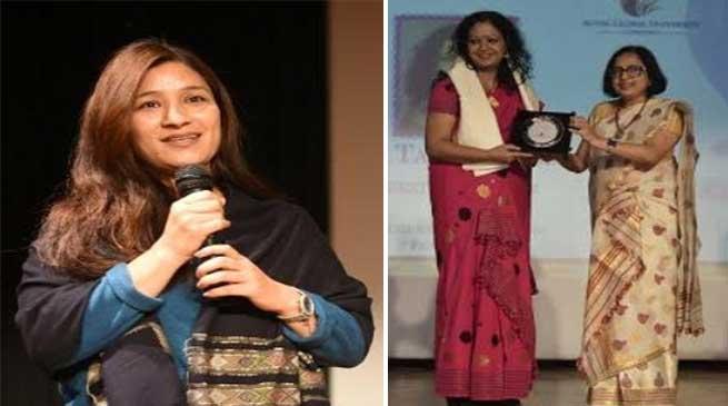 Ms. Anshu Jamsenpa at RGU during Inauguration of Consensio 2020-'The festival of Dreams'