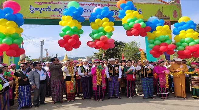 Chowna Mein attend sacred 'Poi KongmuLoung Chow Kaang-kham' at Putao in Myanmar