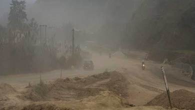 Photo of Itanagar: Dust Storm like scene along under construction NH-415