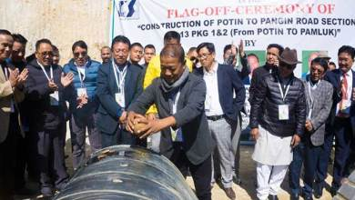 Photo of Arunachal: Felix flags off Construction of Potin to Pangin Road