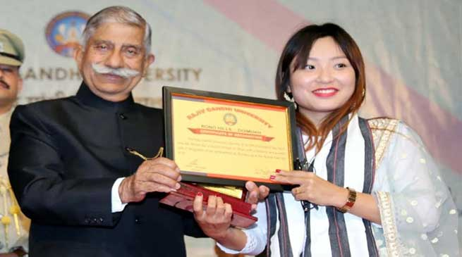 Arunachal: Governor attended RGU foundation Day celebration