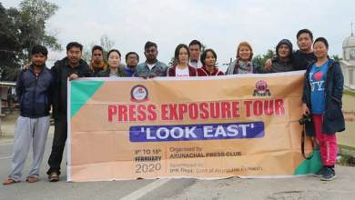 Photo of State Journalists on East Arunachal Tour