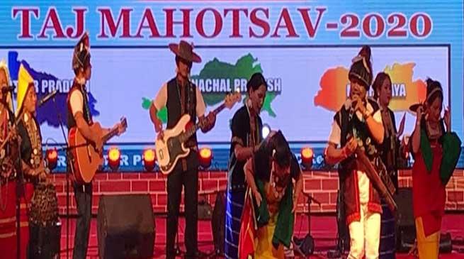 Agra: Arunachal cultural troups participated in Taj Mahotsav 2020