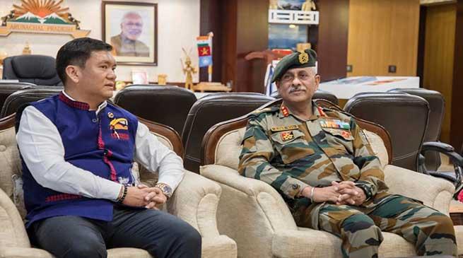 GOC 56 Infantry Division calls on Arunachal CM