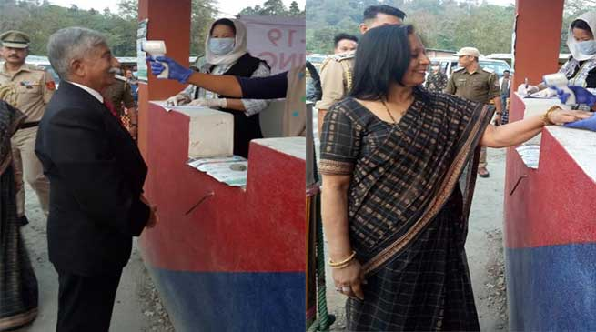 Arunachal Governor undergoes Thermal Scanning along with his wife