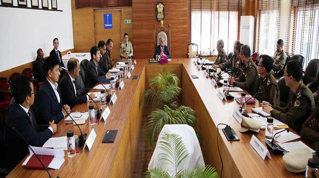 Arunachal Governor chairs high-level security meeting