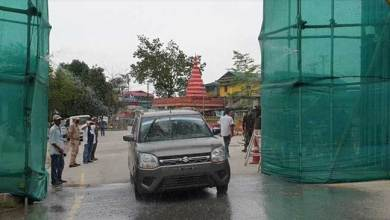 Photo of Arunachal: Vehicle sanitization system installed in Banderdewa check gate