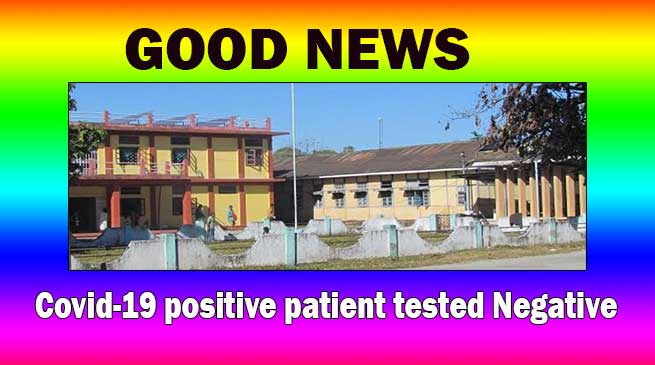 Arunachal's alone COVID – 19 positive patient now tested negative in third test