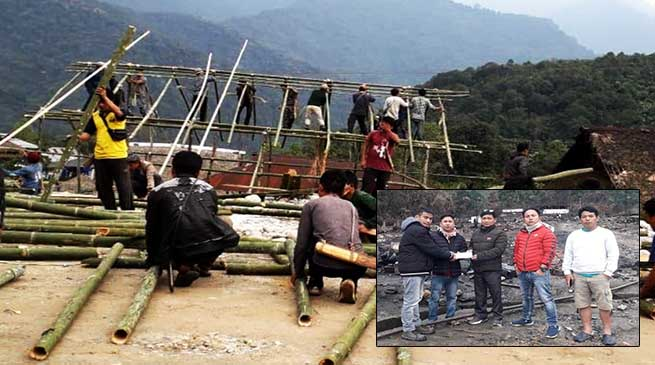 Arunachal: AYOF extends relief assistance to the Kaying fire victims