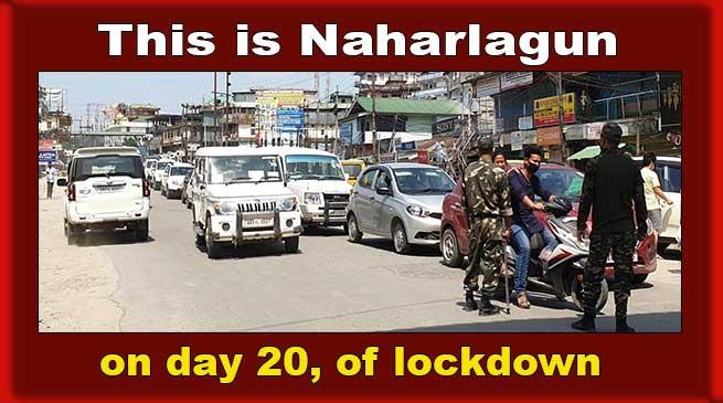 Arunachal: Naharlagun witnessed traffic jam during lockdown