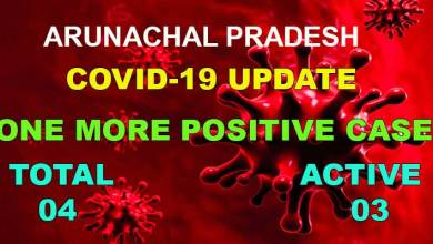 Photo of Arunachal Pradesh reports one more test positive for Covid-19