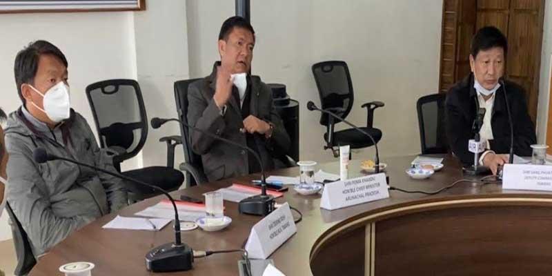 Arunacha: Pema Khandu reviews COVID-19 preparedness in Tawang