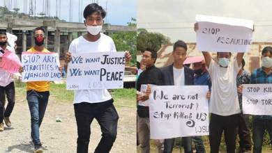 Photo of Arunachal- Protest March in longding demanding arrest of army jawan involved in firing incident