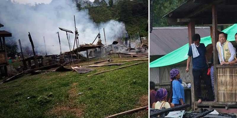 Arunachal: Tana Hali meets Yadang village fire victim