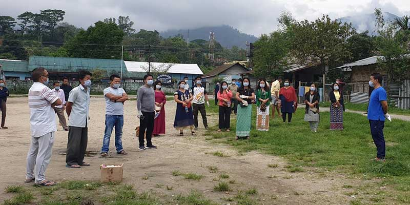 Itanagar:Women and youth groups carried out sanitization, distributed 700 face mask