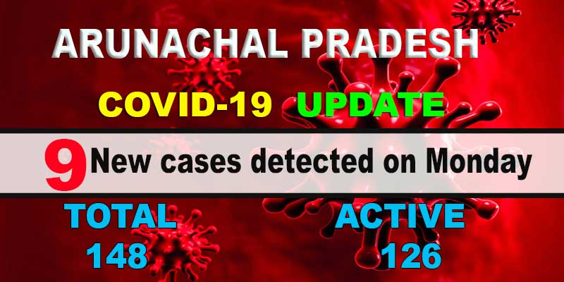 Arunachal: 9 fresh COVID-19 cases detected, tally rises to 148