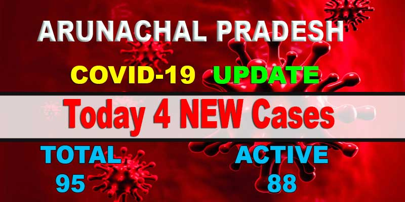 Arunachal reports 4 fresh COVID-19 cases; tally rises to 95
