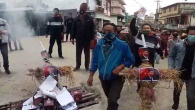Photo of Arunachal: BTSM protest against China in Bomdila
