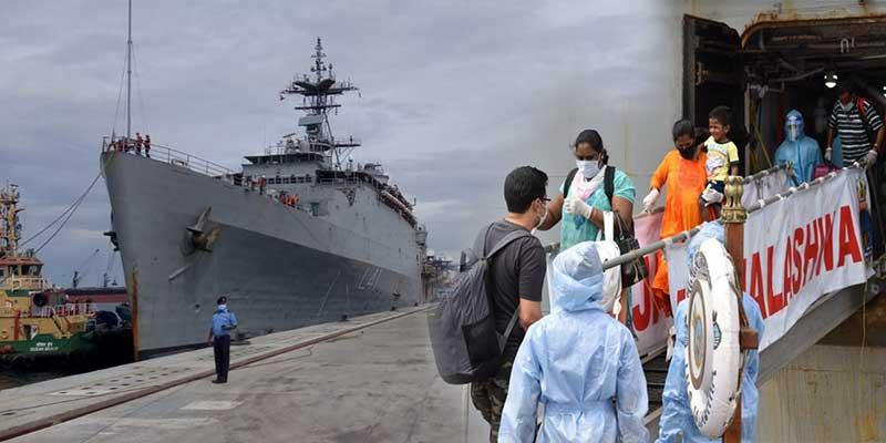 Operation Samudra Setu: INS Jalashwa arrives at Tuticorin with 700 indian citizens embarked from maldives