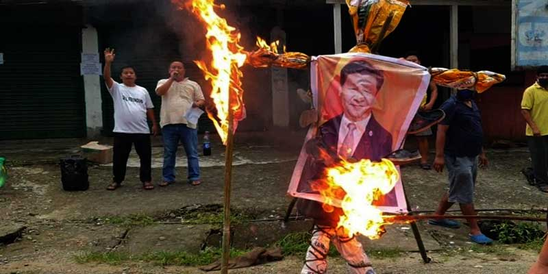 Arunachal:protest against china continue