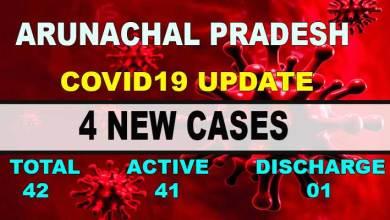 Photo of Arunachal Pradesh reports 4 new Covid-19 positive cases