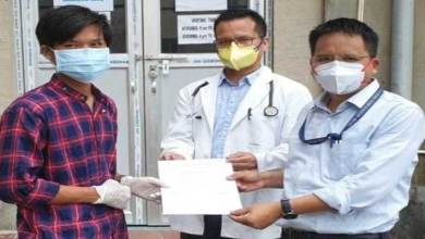 Photo of Itanagar- Covid-19 positive Engineering Student cured and discharged from TRIHMS