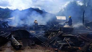 Photo of Itanagar-Three cylinder blast rock Gopur area, 1 dwelling house gutted