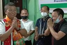 Itanagar- Former SAA Chairman Gora Makik joins BJP