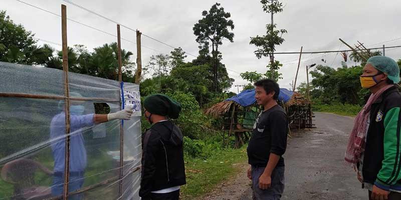 Arunachal: A teacher built a temporary screening centre in Ngorlung-Ralung village