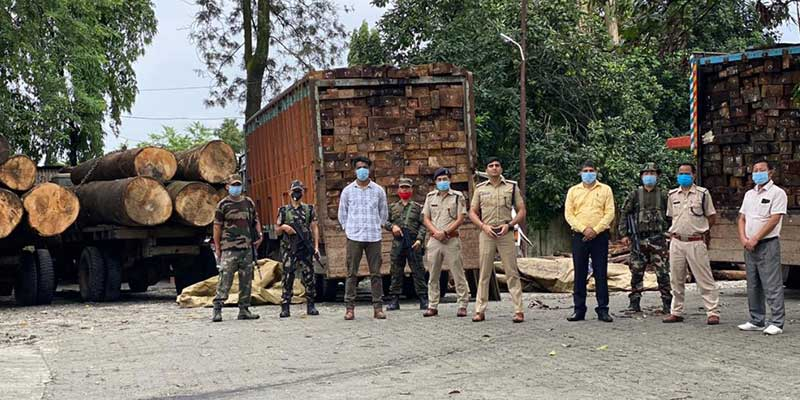 Arunachal-Roing Police Bust Illegal Timber Trade Racket
