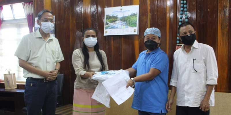 Arunachal: TRICL donates PPE kits, hand sanitizer etc to Dist Admin to fight against COVID-19