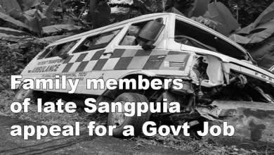 Photo of Arunachal: family members of late Sangpuia appeal for a Govt Job