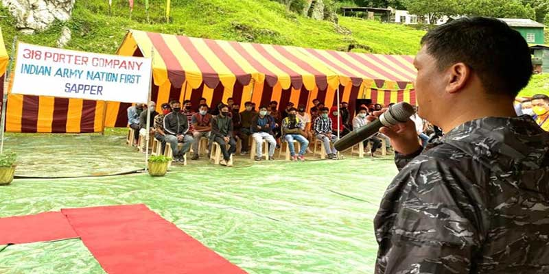 Arunachal CM attends Porter Raising Ceremony at Sapper