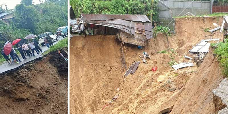 Arunachal: Dozens of landslides incident occurred in Itanagar on Thursday
