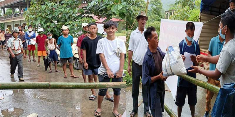 Arunachal: Youth Join Hands To Distribute Relief Material