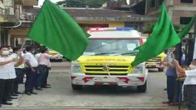 Photo of Arunachal: Libang flags off 1st fleet of 5 BLS ambulances