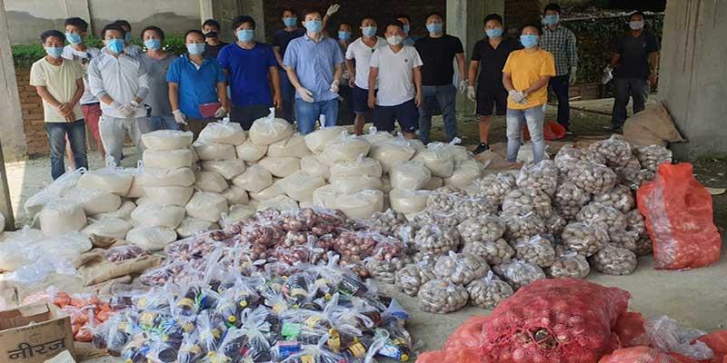 Itanagar: Koloriang Self Help Group distributed food items to needy people in ICR