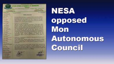 Photo of Arunachal: NESA opposes demand of Mon Autonomous Council