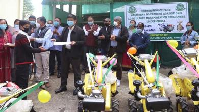 A total of 13 Farmers of Tawang were handed over power tillers in the distribution programme under CM's Sashakt kisan yojana(CMSKY)2019-20.