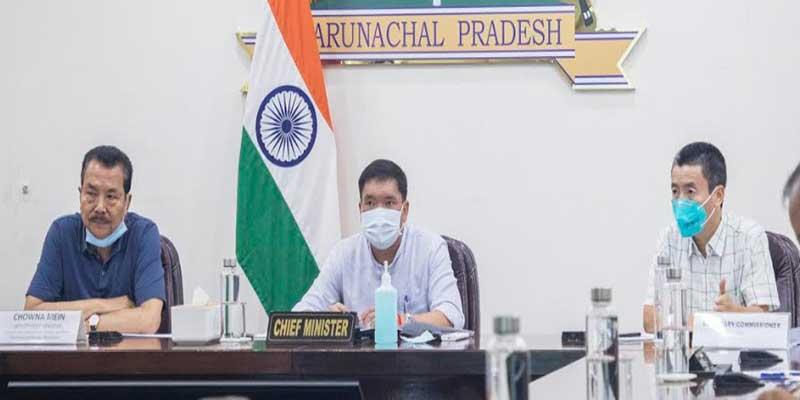 Pema Khandu held a review meeting on 'Status of Highway in Arunachal Pradesh'