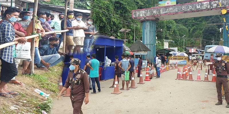 Arunachal: Huge Crowd in Banderdewa checkgate, Admin to increase testing capacity