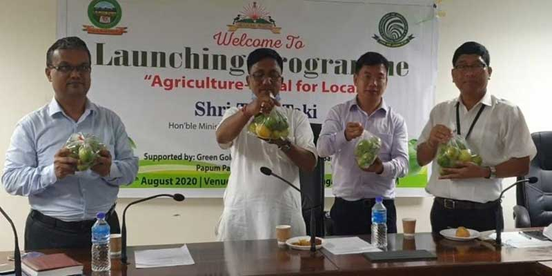 "Arunachal: Tage Taki launches "" Agriculture- Vocal for Local"""