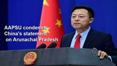 Photo of Arunachal: AAPSU condemns China's statement on Arunachal Pradesh as a territory of South Tibet