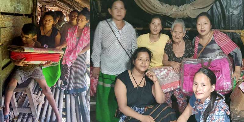 Arunachal: ASHG donates blanket, carpet and edible items to the needy people