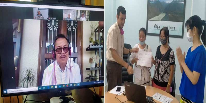Arunachal: Dy CM handed over first Corona Warriors Insurance amount of Rs. 50 lakhs to the family of Late Sangpuia Tayo