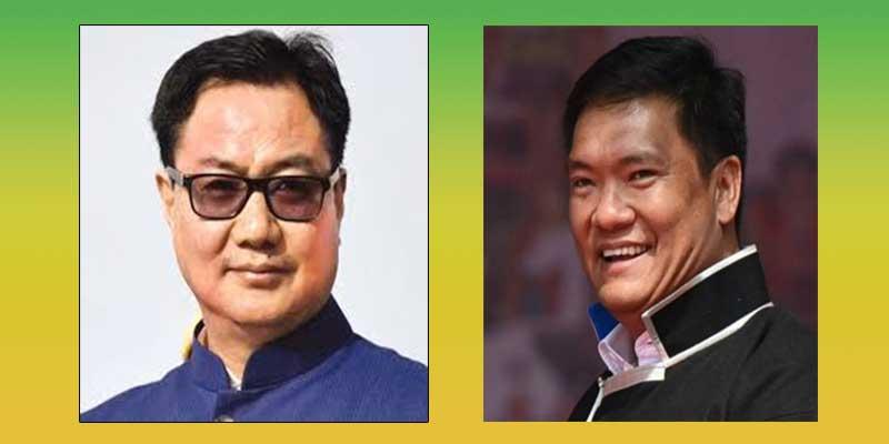 Arunachal: Pema Khandu, Kiren Rijiju, will attend semi-virtual party meeting
