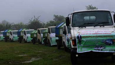 Photo of Arunachal: Ojing Tasing flags off sanitation vehicles