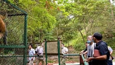 Itanagar- Mama Natung visits Itanagar Biological Park